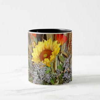Flowers of Tuscany Two-Tone Coffee Mug