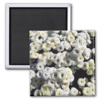 Flowers of White 2 Inch Square Magnet