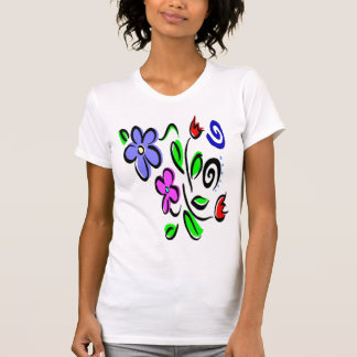 Flowers on a Argyle t-shirt