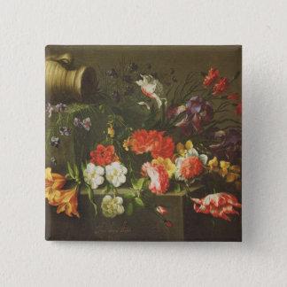 Flowers on a Ledge, 1665 Button
