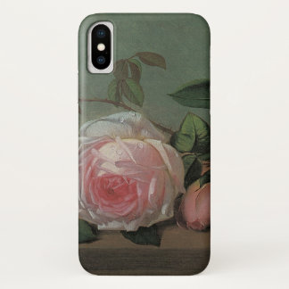Flowers on a Ledge by Ottesen, Vintage Still Life iPhone X Case