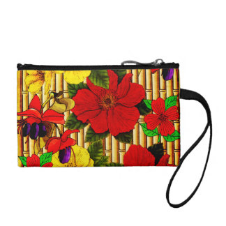 Flowers On Bamboo Coin Purse