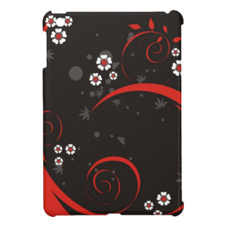 Flowers on Black Case For The iPad Mini