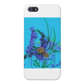 Flowers on Blue Case For iPhone SE/5/5s