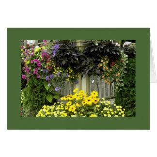 Flowers on Display Greeting Card