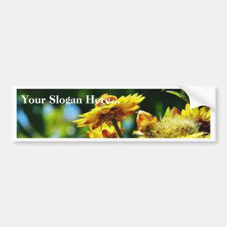 Flowers On Grass Bumper Sticker