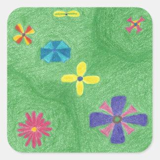 Flowers on Grassy Hills Stickers