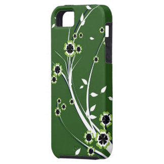 Flowers on Green iPhone SE/5/5s Case