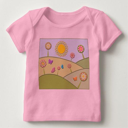Flowers on Hillside Baby T-Shirt