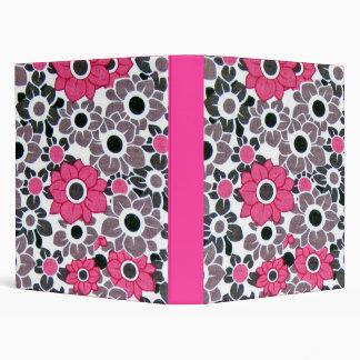 Flowers on Pink Binder