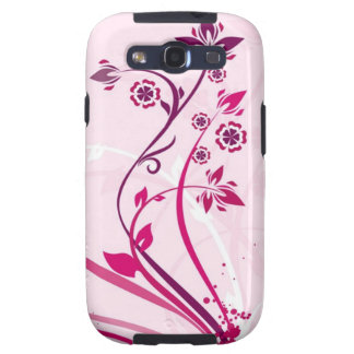 Flowers on Pink Galaxy S3 Cases
