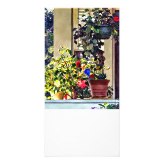 Flowers On Porch Card