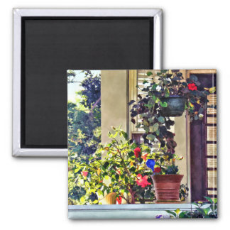 Flowers On Porch Magnet