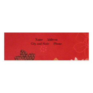 Flowers on Red Business Cards