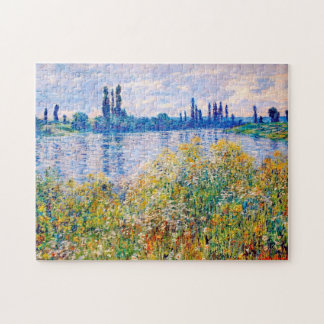 Flowers on the Banks of Seine Monet Fine Art Jigsaw Puzzle