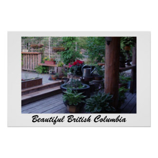 Flowers on the Deck in BC Print