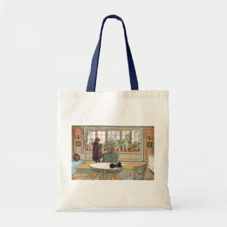 Flowers on the Windowsill by Carl Larsson Budget Tote Bag