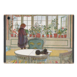 Flowers on the Windowsill by Carl Larsson Cover For iPad Mini