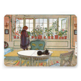 Flowers on the Windowsill by Carl Larsson Custom Announcements