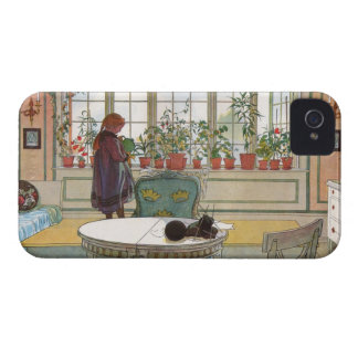 Flowers on the Windowsill by Carl Larsson iPhone 4 Case