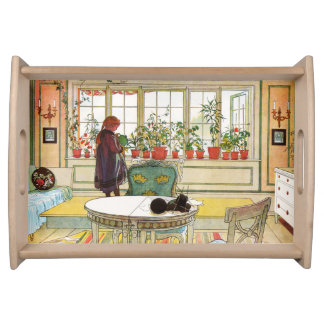 Flowers on the Windowsill by Carl Larsson Serving Tray