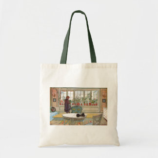 Flowers on the Windowsill by Carl Larsson Tote Bag
