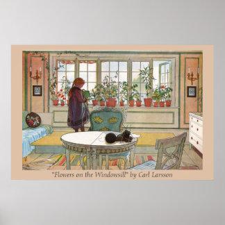 Flowers on the Windowsill Carl Larsson Art Print