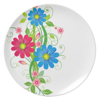 Flowers on Vine Party Plate