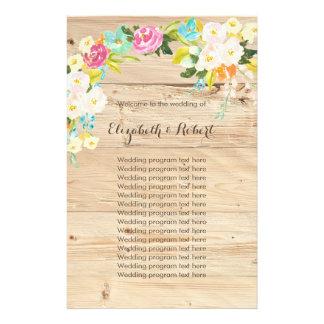 Flowers on Wood Light Flyer