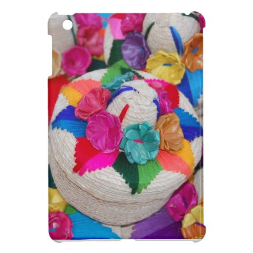 Flowers on Woven Boxes iPad Mini Cover