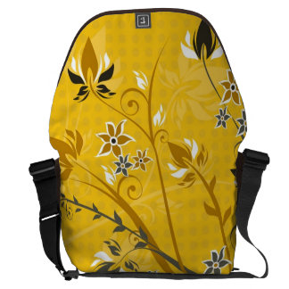 Flowers on Yellow Courier Bag
