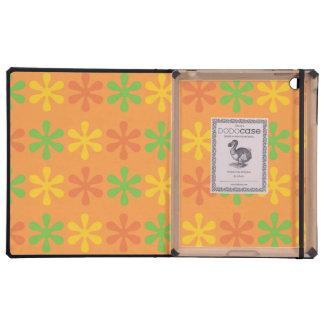 Flowers orange iPad cover
