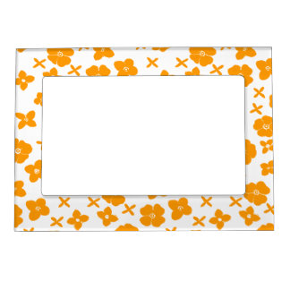 Flowers- Orange Magnetic Picture Frame