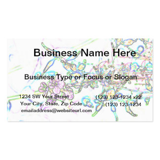 flowers outline abstract sparkle business card