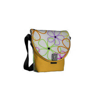 Flowers Outlines Courier Bag