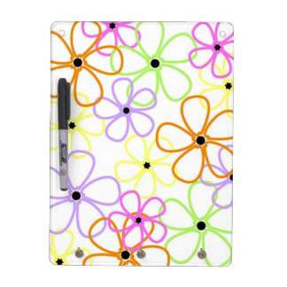 Flowers Outlines Dry-Erase Board