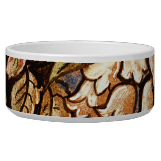 Flowers Painted on Glass Dog Bowls