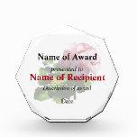 Flowers - Pale Pink Geranium Acrylic Award