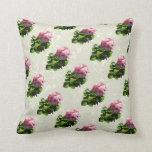 Flowers - Pale Pink Geranium Throw Pillow