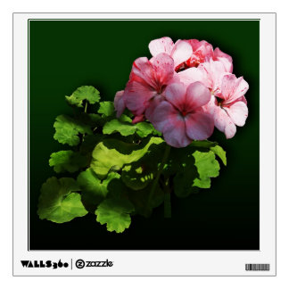 Flowers - Pale Pink Geranium Wall Decal