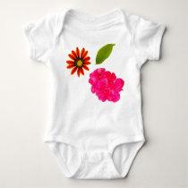 Flowers Pattern Baby Bodysuit