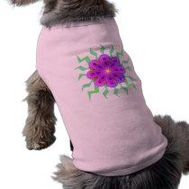 Flowers Pattern Dog Shirts