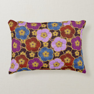 Flowers Pattern In Multi-Colors Accent Pillow