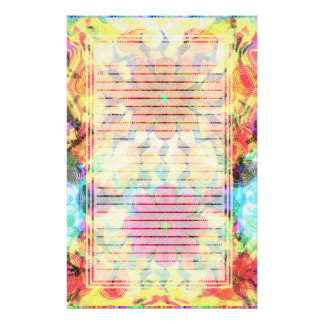 Flowers Pattern Lined Stationery
