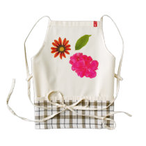 Flowers Pattern Zazzle HEART Apron