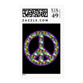FLOWERS PEACE SIGN STAMP