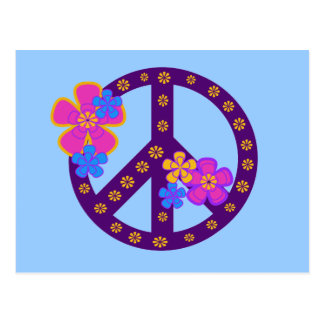 Flowers Peace Symbol T-shirts and Gifts Postcard