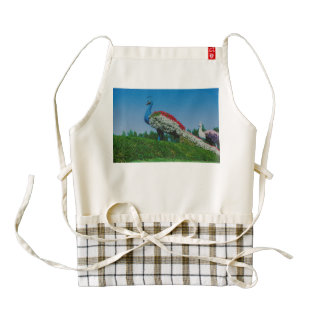 Flowers peacock in Dubai Miracle Garden Zazzle HEART Apron