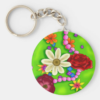 Flowers & Pearls Keychain
