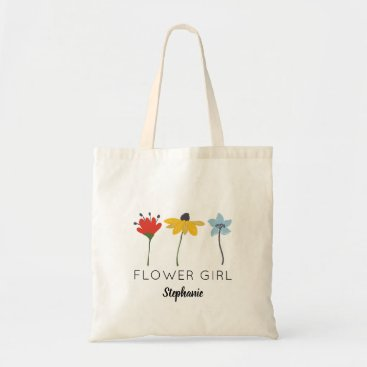 Bride Themed Flowers Personalised Flower Girl Tote
